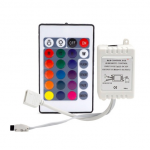HS0659 4Key RGB Controller IR Remote Controller With Mini Receiver For 3528 5050 RGB LED Strip Light