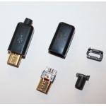 HS0700 4 in 1 DIY Micro USB Black