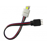 HS0738 15cm 5050 RGB 4 pin connectors  to Power Adaptor 4 Conductor 10mm Wide connector