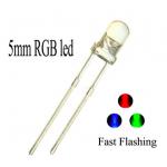 HS0781 100pc 5mm Transparent Flashing full color RGB LED