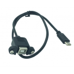 HS1016 Type-C Male to Standard USB 2.0  Female Data cable 50cm