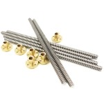 HS1239 T8x1200mm trapezoidal Lead Screw with Brass Nut