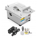 HS1342 T4 Mini Table Saw Wood Working Bench Lathe Electric Polisher Grinder DIY Model Cutting Saw