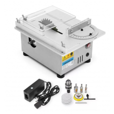HS1342 Mini Table Saw Wood Working Bench Lathe Electric Polisher Grinder DIY Model Cutting Saw