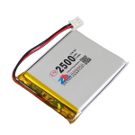 HS1365 3.7V 2500mAh battery 62*50*5.5mm with PH2.0 connector