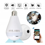 HS1583 360° Wireless Hidden WIFI  960P/1080P HD Camera LED Light Bulb Security Lamp