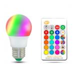 HS1767 E27 10W RGB LED Light Bulb AC85-265V + Warm white