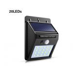 HS2065 solar powered 20 LED PIR  Waterproof Street Security Light