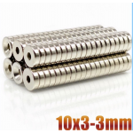 HS2281 100pcs Powerful Round Magnets 10×3-3mm