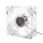 HS2351 USB Computer PC Fan 80mm With LED 8025 Silent Cooling Fan
