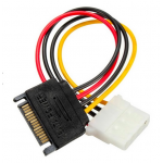 HS0344 SATA 15 Pins to IDE 4 Pins HDD Power Adapter Cable Lead Wire For PC Hard Drive