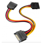 HS0345 SATA 15 Pins to 2x SATA Socket HDD Power Adapter Cable Lead Wire For Hard Drive