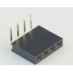 HS0374 100pcs 4 Pin 2.54 Pin Female Pin Header Right Angle Single row