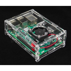 HR0214-166A Transparent Acrylic Case + Cooling System External Fan For Raspberry Pi 3/2/B/B+