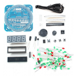 HR0214-69 DIY DS1302 Rotation LED Electronic Clock Kit 51 SCM Learning Board
