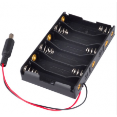 HR0294 6 AA Battery Holder with DC connector
