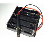 HR0309-16 4 AA Battery Holder with DC connector