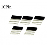 HR0437 100pcs 2.54MM 10Pin 10MM Long Needle Female Pin Header
