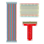 HR0408 1x 40Pin GPIO Colorful Cable  1x 400 Points Breadboard 1x 40Pin Red GPIO Extension Board