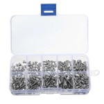 HR0550 340pcs M3 Stainless Hex Socket Button Head Screws Allen bolt Nut Assortment Kit