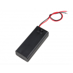 HR0556 Battery Holder - 2xAAA with Cover and Switch