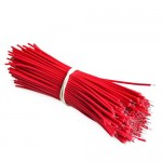 HR0572 100pcs Breadboard Jumper Cable Wires Tinned 0.96cm Red