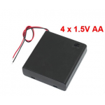 HR0583 4xAA battery holder with cover and switch