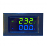 HS0578 D85-2042AG  80-300V 0-100A HD Yellow Blue LCD Active Power Digital Dual LED Display