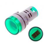 HS0614 Green AD16-22DSV  AC60-500V 22mm LED  Digital AC Voltmeter