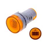 HS0615 Yellow  AD16-22DSV  AC60-500V 22mm LED  Digital AC Voltmeter