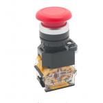 HS0675 Red LA38-11M 22mm Momentary Mushroom Cap Push Button Switch Self Reset Spring Return