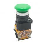 HS0676 Green LA38-11M 22mm Momentary Mushroom Cap Push Button Switch Self Reset Spring Return