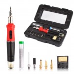 HS1068 Gas Soldering Iron Cordless Welding Torch Kit Tool HS-1115K 10 in 1