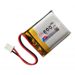HS1366 3.7V 600mAh battery 37*30*5.5mm with PH2.0 connector