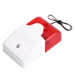 HS1385 12V Mini Wired Strobe Siren 115dB with light