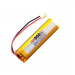 HS1544 3.7V 900mAh battery 60*16*7.5mm  with PH2.0 connector