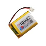 HS1546 3.7V 1000mAh battery 51*30*6mm  with PH2.0 connector