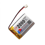 HS1551 3.7V 2000mAh battery 51*34*9mm  with PH2.0 connector