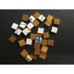 HS1601 50pcs 9*9*5MM Adhesive Aluminum Heatsink For Raspberry Pi
