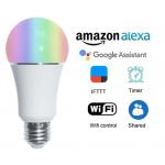 HS1609 E26/E27 7W wifi smart life APP & Audio controlled smart RGBW Led Bulb