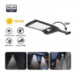 HS1658 Solar Powered 48 LED PIR Motion Sensor Waterproof Street Security Light