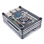 HS1721 9 Layers Acrylic Case with Fan for  Raspberry 4B