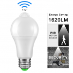 HS1766 IP42 LED PIR Sensor Bulb E27 12W 85-265V