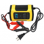 HS1802 12V 6A Full Automatic Car Battery Charger Power Pulse Repair Chargers Wet Dry Lead Acid Battery-chargers Digital LCD Display