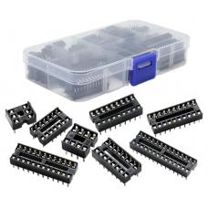 HS2133 66Pcs/Lot DIP IC Sockets Adaptor Solder Type Socket Kit 6,8,14,16,18,20,24,28 Pin