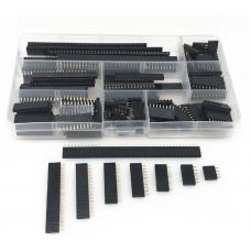 HS2155 120Pcs 2.54mm Straight Single Row PCB Board Female Pin Header  Assortment Kit