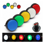 HS2176 Arcade Button 5 Colors LED Light Lamp 60MM