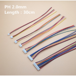 HS2220A 50pc/set PH 2.0 2/3/4/5/6/7/8/9/10 Pin Pitch 2.0mm Connector Plug Wire Cable 20cm