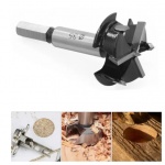 HS2251 Upgrade 35mm 3 Flutes Carbide Tip Forstner Drill Bit Wood Auger Cutter Woodworking Hole Saw For Power Tools