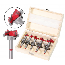 HS2261 5Pcs Forstner Drill Bit Set 15-35mm (15 20 25 30 35mm) Wood Auger Cutter Hex Wrench Woodworking Hole Saw For Power Tools